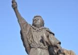 Monumento a Shakushain en Shinhidaka, Hokkaido