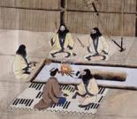 Antigua pintura sobre el recital de yukar.