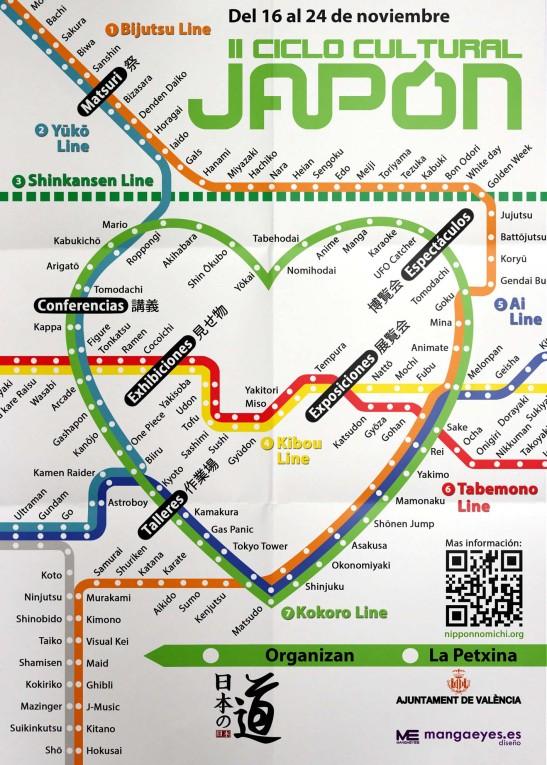 Cartel del ciclo cultural japonés de Valencia 2013