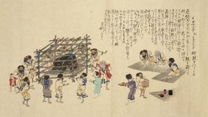 Ritual religioso ainu, ceremonia del oso