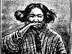 Ilustración de A.H. Savage Landor, escritor del libro Alone with the hairy ainu.
