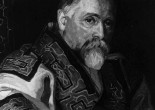 Retrato de Bronisław Piłsudski con atuendo ainu