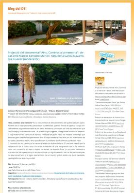 Blog del Departament de Traducció i Interpretacio de la UAB
