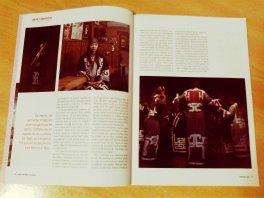 """Reportaje sobre """"Ainu. Caminos a la memoria"""" en las páginas de apertura 4-7 de la Revista Eikyô, influencias Japonesas."""