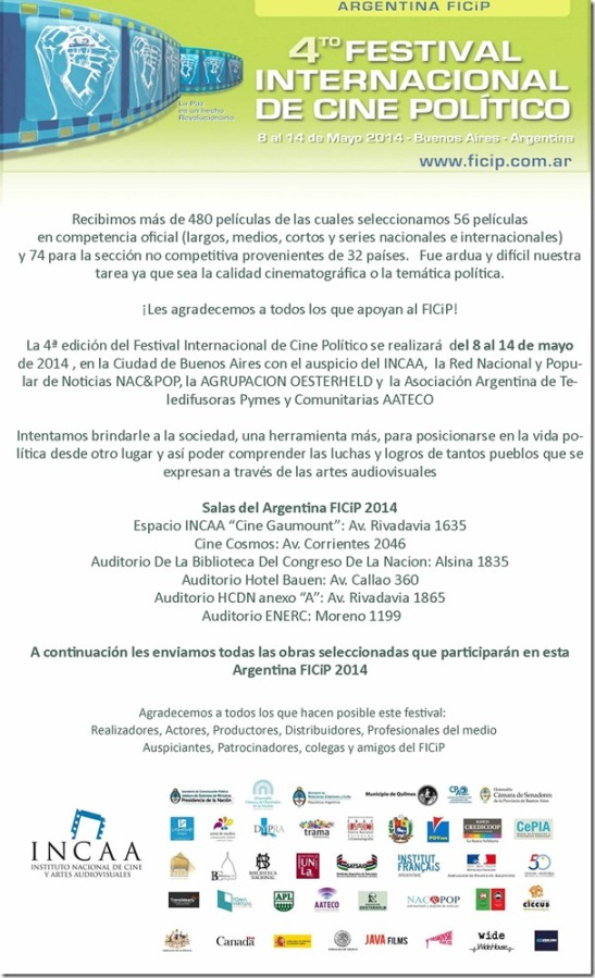 Festival Cine Politico Argentina