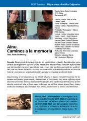 Ainu. Caminos a la memoria. Ficha Catálogo FICIP 2014