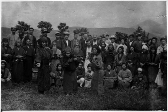 Group of Ainu_Japan_1914